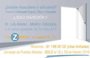 Clinica Osteopatia Madrid Centro - Oferta 50%