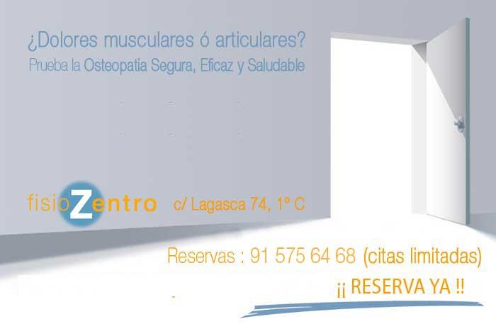 Clinica Osteopatia Madrid Centro